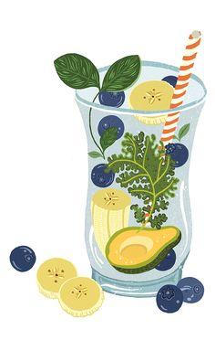 - Dawn Cooper Illustration Vegetable Illustration, Fun Illustration, Food Illustrations, Recipe Drawing, Cute Food Drawings, Cute Fruit, Food Concept, Ipad Art, Fruit Drinks