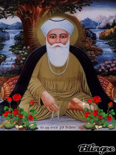 Guru Nanak Dev Ji, who brought us mul mantra, gur mantra, bana and bani, sewa and simran. A manifestation of the Divine nanak One method of Bhakti yoga is to meditate concentrating on the black auspicious mark on Guru ji's lotus feet. Guru Nanak Pics, Guru Pics, Guru Granth Sahib Quotes, Sri Guru Granth Sahib, Whatsapp Dp In Punjabi, Guru Nanak Wallpaper, Ek Onkar, Radha Soami, Nanak Dev Ji