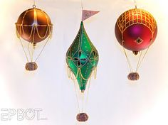 Mini Hot Air Balloon Tutorial... would love to see these on my Christmas Tree!