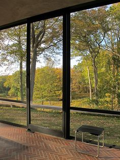 Gorgeous view from the Philip Johnson Glass House. Philip Johnson Glass House, Johnson House, Architecture Details, Modern Architecture, Interior Design Boards, Glass Facades, Facade House, Mid Century House, Interior And Exterior