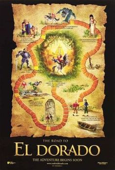The Road to El Dorado (2000) Movie Poster - Kevin Kline - Edward James Olmos