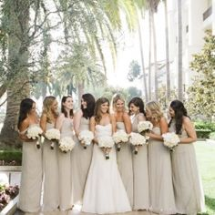 Gold #Neutral #Bridesmaids … Wedding ideas for brides, grooms, parents & planners https://itunes.apple.com/us/app/the-gold-wedding-planner/id498112599?ls=1=8 … plus how to organise an entire wedding, within ANY budget ♥ The Gold Wedding Planner iPhone #App ♥ http://pinterest.com/groomsandbrides/boards/  for more wedding inspiration. #Pastel #Nude