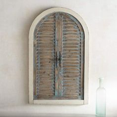 Pier 1 Imports Distressed Blue Arch Wall Decor #affiliatelink