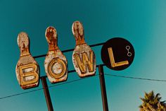 RetroRoadsidePhoto › Bowling Alleys  Bowling Ball and Pins Neon Sign