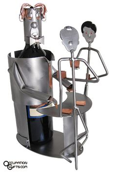 Gambling Wine Bottle Holder - If you need a unique gift for a gambler and they drink wine, this wine holder will make the perfect gift.