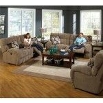 Catnapper - Siesta 2 Piece Power Lay Flat Reclining Sofa Set in Porcini - 61761-S-L-PORCINI