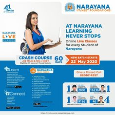 Narayana Academy is the leading IIT and Medical coaching institute in delhi. Provides quality education and empowers the student to achieve the success from the childhood with Narayana Foundation courses. Medical Engineering, Engineering Colleges, Coaching Institute In Delhi, School Advertising, Neet Exam, Teaching Methodology, Students Day, Board Exam, Wall Banner