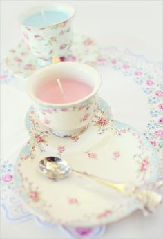 #10 DIY - Tutorials To Make Teacup Candles- Lovely ! So Simple & Able to Create to match any Decor !!