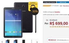 Tablet Samsung Galaxy Tab E Wi-Fi SM-T560 Tela 9.6 8GB Câmera 5MP GPS << R$ 56512 >>