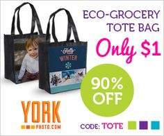 Tri Cities On A Dime: ECO-GROCERY TOTE BAG - ONLY $1.00 FROM YORK PHOTO....