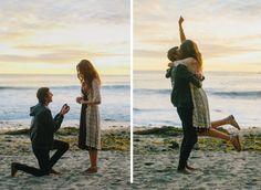Beautiful couple. Beautiful beach. BEAUTIFUL proposal story
