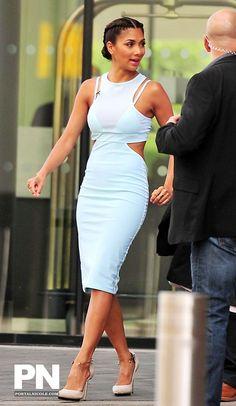 Nicole Scherzinger wears the Kathy Body Dress, available October.