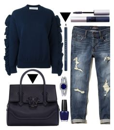 """""""I'm a boss"""" by felicitysparks ❤ liked on Polyvore featuring Victoria, Victoria Beckham, Hollister Co., Versace, ZuZu Luxe, OPI, BERRICLE and Chantecaille"""