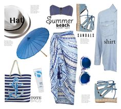 """""""Sun Safety - Coverups!"""" by hattie4palmerstone ❤ liked on Polyvore featuring Aquazzura, Topshop, Linda Farrow, Accessorize, Lisa Marie Fernandez, La Roche-Posay, Cultural Intrigue and coverups"""