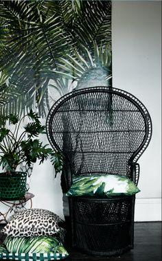 black rattan chair wish I still had mine but I left it in NM I think I GAVE it away!