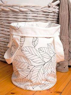 Tutoriale DIY: Cómo hacer un cesto para la ropa sucia vía DaWanda.com