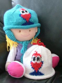 Pukeko roll rim hat for children. With or without by KraftyKiwis