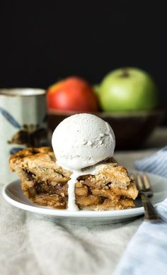 This gluten-free apple pie is amazing especially with a scoop of ice cream. The cinnamon enhances the flavors of the apples just enough. Feel free to adjust the spices to your taste! #glutenfree #apple #pie #dessert Gluten Free Apple Pie, Best Gluten Free Desserts, Gluten Free Treats, Gluten Free Cookies, Good Healthy Recipes, Gluten Free Baking, Gluten Free Recipes, Low Carb Recipes, Delicious Desserts
