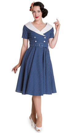 The breath taking Hell Bunny Claudia 50's Dress is the epitome of classic 50's fashion and this stunner is versatile enough for several seasons of wear!  #BlameBetty #PinUp #HellBunny