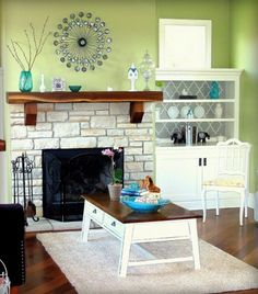 Sherwin Williams Hearts Of Palm Green Living Room Repaint The So That Furniture Can Be Darker And More Kid Friendly