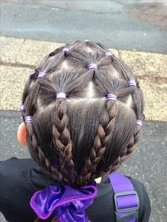 gymnastics hair ideas - I wanna do it Softball Hair Braids, Softball Hairstyles, Dance Hairstyles, Workout Hairstyles, Little Girl Hairstyles, Cool Hairstyles, Gymnastics Hairstyles, Hairstyle Ideas, Soccer Hair