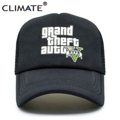 CLIMATE GTA 5 Grand Theft Auto Trucker Caps Hot Game gta V 5 Fans Caps  Summer f22847e0c8e1