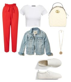 """""""outfit"""" by outfitt ❤ liked on Polyvore featuring Miss Selfridge, Gap, Gucci, Hollister Co. and Givenchy"""