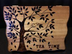 Wood burning tea box