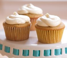 Redolent of breakfast, but even sweeter! :) Maple Bacon Cupcakes.