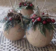 diy rustic ornaments - Google Search
