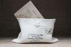 porcelain postage envelope with bird stamp by amanda mercer | notonthehighstreet.com
