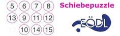 Mit Schiebepuzzles in verschiedenen Größen wird die optische Serialität trainiert. Die optische Serialität ist die Fähigkeit, optische Eindrücke der Reihe nach zu ordnen. Solitaire, Puzzle, Math Equations, Words, Dyscalculia, Dyslexia, Numbers, Games, Puzzles