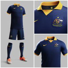 Australia 2014 Away Soccer Jersey