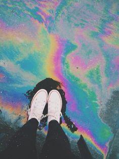 grunge, rainbow, and converse image