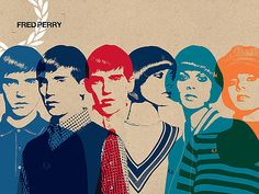 Fred Perry Ad by Julian Hayr Graphic Design Typography, Graphic Design Illustration, Graphic Art, Illustration Art, Fred Perry, Design Art, Print Design, Retro Design, Illustrations