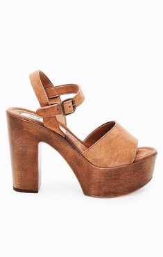 7839a1945cb23f Cute tan heels for summer. 70s Shoes