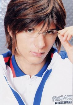 Another hottie from my Tenimyu (and Seramyu!) days, Shirota Yuu is half Japanese, half Spanish, and ALL HOTNESS.  He has a beautiful singing voice as well! <3  Shown here as Tezuka in Tenimyu because the glasses add to the UNF!factor. :P