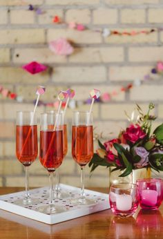 Pink champagne with geometric stirrers, by Confetti Pop MOOD BOARD Wedding Ideas To Make, Do It Yourself Wedding, Diy Wedding, Wedding Day, Make It Yourself, Summer Wedding, Dream Wedding, Valentines Day Dinner, Valentines Day Weddings