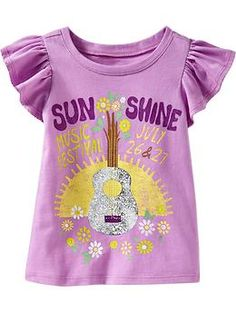 Foil-Graphic Flutter Tees for Baby | Old Navy  Tam: 12M - 5T  Preco: $10