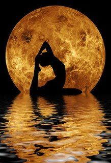 Moonlight pose or repose? Beautiful and inspirational either way.