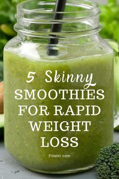 5 Best Smoothie Recipes for Weight Loss 5 skinny smoothies for rapid weight loss. these healthy, nutritious and delicious smoothies Weight Loss Smoothie Recipes, Weight Loss Meals, Best Smoothie Recipes, Yummy Smoothies, Weight Loss Drinks, Detox Recipes, Fast Weight Loss, Healthy Weight Loss, How To Lose Weight Fast