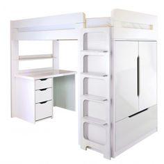 Farringdon High Sleeper With Desk | Storage & Sleepover Beds for Children - Boys & Girls Storage Beds | ASPACE