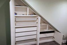 A Classy High Gloss Bespoke Loft Wardrobe (Under Eaves)