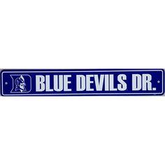 """Duke Blue Devils Street Sign - 4'x24"""""""