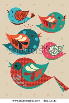stock vector : birds vector/illustration