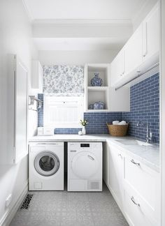 Top 5 Tips for a Hardworking Laundry — Adore Home Magazine Photography Tom Roe / Interior design Smarter Bathrooms+ Laundry Room Layouts, Laundry Room Remodel, Laundry Room Cabinets, Laundry Room Organization, Laundry Storage, Cupboards, Laundry Decor, Laundry Room Design, Laundry In Bathroom