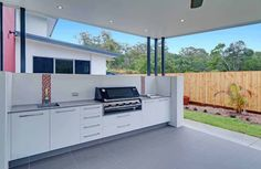 Get some inspiration for your Built In BBQ area, Come and talk to us about your Built in BBQ area. With a huge range of BBQ Outdoor Kitchens available. Outdoor Bbq Kitchen, Outdoor Kitchen Design, Outdoor Kitchens, Patio Kitchen, Kitchen Stove, Kitchen Cabinets, Outdoor Areas, Outdoor Rooms, Outdoor Dining