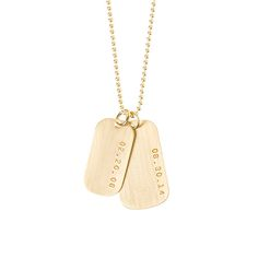 Check out the brand *NEW* gold fill version of the new Anna Bee Dog Tag Necklace. Totally gorgeous! Enter MAMABEE at check out to receive 20% OFF! (valid until wed 30th April) #mothersday #annabeejewelry #personalizedjewelry
