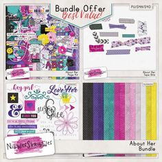 Personal Use :: Bundled Deals :: About Her Bundle by Nibbles Skribbles