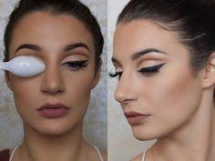 ¡Truco de maquillaje para marcar la profundidad del ojo usando una cuchara! | Belleza